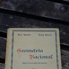 Libros de segunda mano de Ciencias: GEOMETRÍA RACIONAL TOMÓ 2. Lote 111687807
