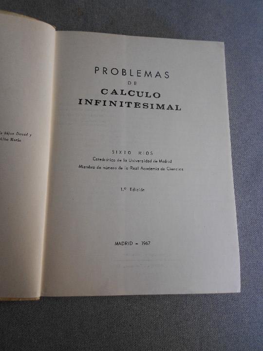 Libros de segunda mano de Ciencias: PROBLEMAS DE CALCULO INFINITESIMAL - Foto 2 - 111796055