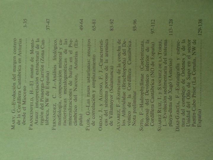 Libros de segunda mano: TRABAJOS DE GEOLOGIA. Nº 13. FACULTAD DE CIENCIAS. UNIVERSIDAD DE OVIEDO. 1983. RUSTICA. 370 GRAMOS. - Foto 2 - 58433128