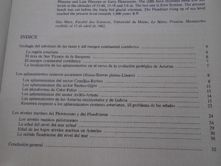 Libros de segunda mano: TRABAJOS DE GEOLOGIA. Nº 13. FACULTAD DE CIENCIAS. UNIVERSIDAD DE OVIEDO. 1983. RUSTICA. 370 GRAMOS. - Foto 4 - 58433128