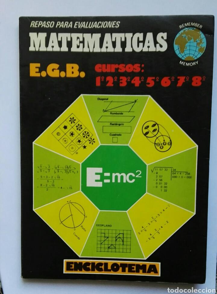 MATEMÁTICAS REPASO PARA EVALUACIONES DE EGB AÑO 1979 (Libros de Segunda Mano - Ciencias, Manuales y Oficios - Física, Química y Matemáticas)