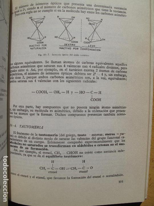 Libros de segunda mano de Ciencias: QUÍMICA. ( CURSO DE ORIENTACIÓN UNIVERSITARIA ).- EDITORIAL BRUÑO.- 1970 - Foto 3 - 112278835