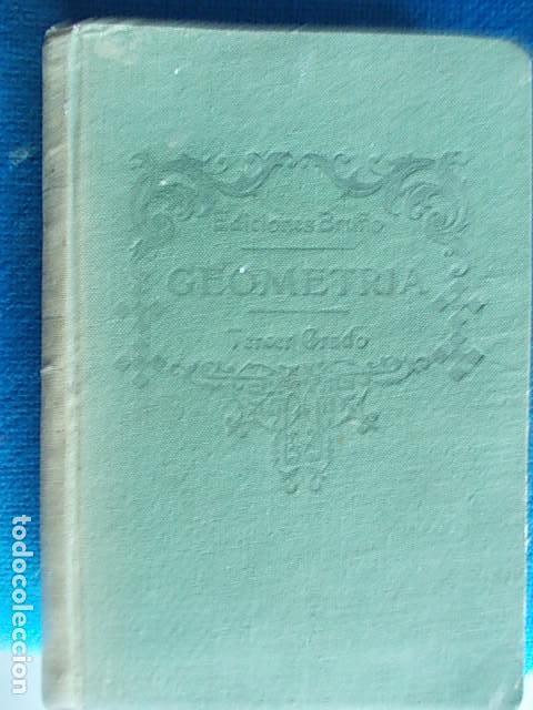 EDICIONES BRUÑO GEOMETRÍA TERCER GRADO (Libros de Segunda Mano - Ciencias, Manuales y Oficios - Física, Química y Matemáticas)