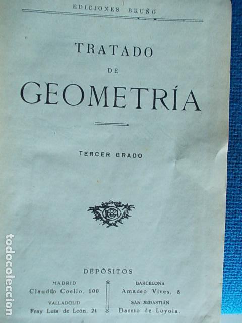 Libros de segunda mano de Ciencias: Ediciones bruño Geometría tercer grado - Foto 2 - 112500559