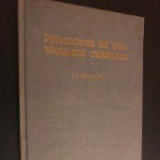 Libros de segunda mano de Ciencias: FUNCIONES DE VARIABLE COMPLEJA Y SUS APLICACIONES. E. G. PHILLIPS, M. A.. Lote 113303279