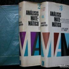 Libros de segunda mano de Ciencias: ANALISIS MATEMATICO 3 VOLUMENES - COMPLETA - REY PASTOR / PI CALLEJA / TREJO. Lote 113768779