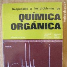 Libros de segunda mano de Ciencias: PROBLEMAS RESUELTOS DE QUÍMICA ORGÁNICA.- ALLINGER CAVA DE JONGH.- REVERTÉ S.A.- 1974. Lote 113885983