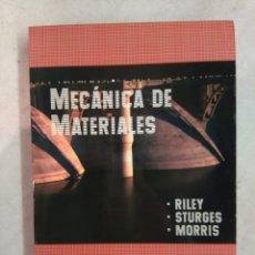 Libros de segunda mano de Ciencias: MECÁNICA DE MATERIALES. LIMUSA WILEY. Lote 114073956
