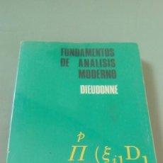 Libros de segunda mano de Ciencias: FUNDAMENTOS DE ANALISIS MODERNO. DIEUDONNÉ. Lote 114632879