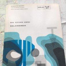 Libros de segunda mano: MAPA GEOTECNICO GENERAL SALAMANCA HOJA 4-5 37 MINISTERIO DE INDUSTRIA IGME 1975. Lote 114682887