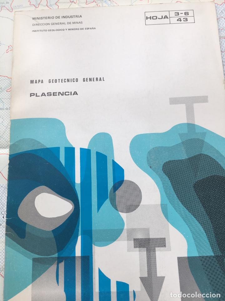 MAPA GEOTECNICO GENERAL PLASENCIA HOJA 3-6 43 MINISTERIO DE INDUSTRIA IGME 1976 (Libros de Segunda Mano - Ciencias, Manuales y Oficios - Paleontología y Geología)