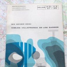 Libros de segunda mano: MAPA GEOTECNICO GENERAL CHELES VILLAFRANCA DE LOS BARROS. HOJAS 2-9 3-9 67 68 IGME 1975. Lote 114683939