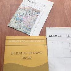 Libros de segunda mano: MAPA DE ROCAS INDUSTRIALES BERMEO BILBAO HOJAS 5-12 MEMORIA 6/1 6/2 ESCALA 1: 200000 IGME 1974. Lote 114684479