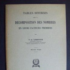 Libros de segunda mano de Ciencias: DESCOMPOSICION DE NUMEROS EN SUS FACTORES PRIMOS. Lote 114839111