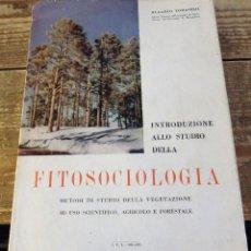 Libros de segunda mano: INTRODUZIONE ALLO STUDIO DELLA FITOSOCIOLOGIA, 1956,319 PAGINAS, EN ITALIANO, MUY RARO. Lote 114910495
