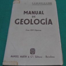 Livros em segunda mão: MANUAL DE GEOLOGIA, CON 395 FIGURAS. Lote 115209467