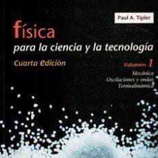 Libros de segunda mano de Ciencias: FÍSICA PARA LA CIENCIA Y LA TECNOLOGÍA, PAUL A. TLIPER. Lote 115436256