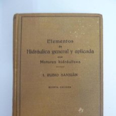 Libros de segunda mano de Ciencias: ELEMENTOS DE HIDRÁULICA GENERAL Y APLICADA. RUBIO SANJUÁN. Lote 115471283
