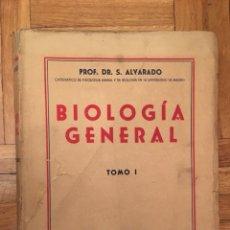 Libros de segunda mano: BIOLOGÍA GENERAL - TOMO I - ALVARADO 1946/49. Lote 115525820