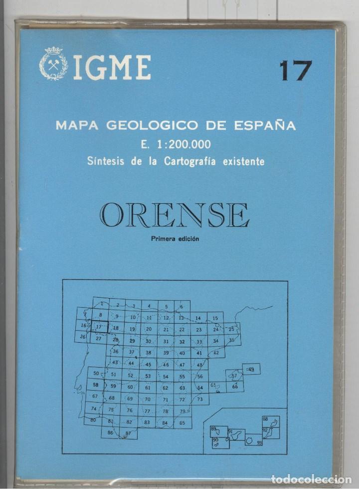 IGME 17 MAPA GEOLÓGICO DE ESPAÑA . ORENSE. 1ª EDICIÓN 1970. NUEVO (Libros de Segunda Mano - Ciencias, Manuales y Oficios - Paleontología y Geología)