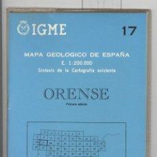 Libros de segunda mano: IGME 17 MAPA GEOLÓGICO DE ESPAÑA . ORENSE. 1ª EDICIÓN 1970. NUEVO. Lote 115778931