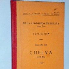 Libros de segunda mano: MAPA GEOLÓGICO DE ESPAÑA. ESCALA 1:50.000. EXPLICACIÓN DE LA HOJA NÚM. 666. CHELVA (VALENCIA). Lote 116129915