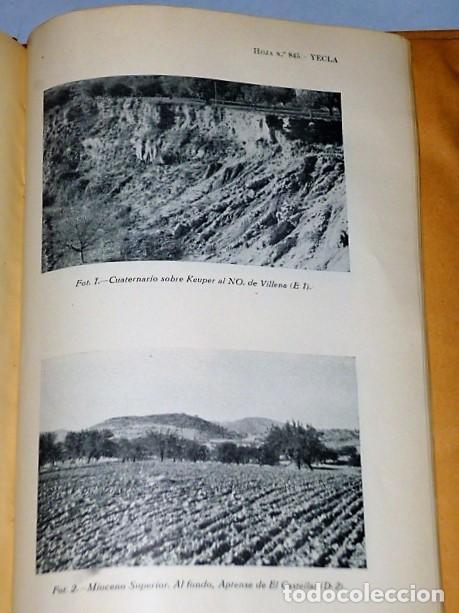 Libros de segunda mano: MAPA GEOLÓGICO DE ESPAÑA. EXPLICACIÓN DE LA HOJA NÚM. 845. YECLA (MURCIA) - Foto 3 - 116181135