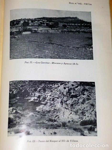 Libros de segunda mano: MAPA GEOLÓGICO DE ESPAÑA. EXPLICACIÓN DE LA HOJA NÚM. 845. YECLA (MURCIA) - Foto 6 - 116181135
