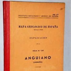 Libros de segunda mano: MAPA GEOLÓGICO DE ESPAÑA. EXPLICACIÓN DE LA HOJA NÚM. 241. ANGUIANO (LOGROÑO). Lote 116183603