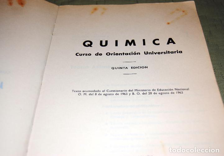 Libros de segunda mano de Ciencias: Química, curso de orientación universitaria (COU). - Foto 2 - 126995552