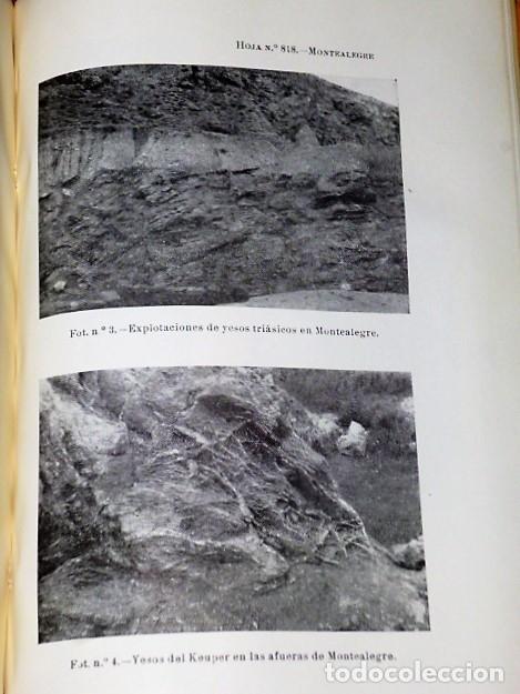 Libros de segunda mano: MAPA GEOLÓGICO DE ESPAÑA. EXPLICACIÓN DE LA HOJA NÚM. 818. MONTEALEGRE (ALBACETE-MURCIA) - Foto 2 - 116223611