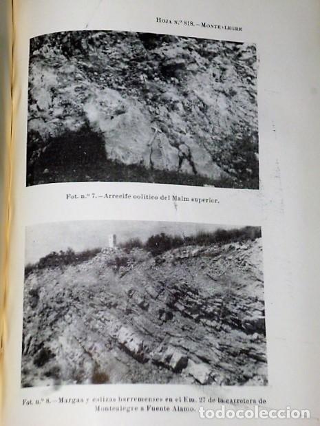 Libros de segunda mano: MAPA GEOLÓGICO DE ESPAÑA. EXPLICACIÓN DE LA HOJA NÚM. 818. MONTEALEGRE (ALBACETE-MURCIA) - Foto 3 - 116223611