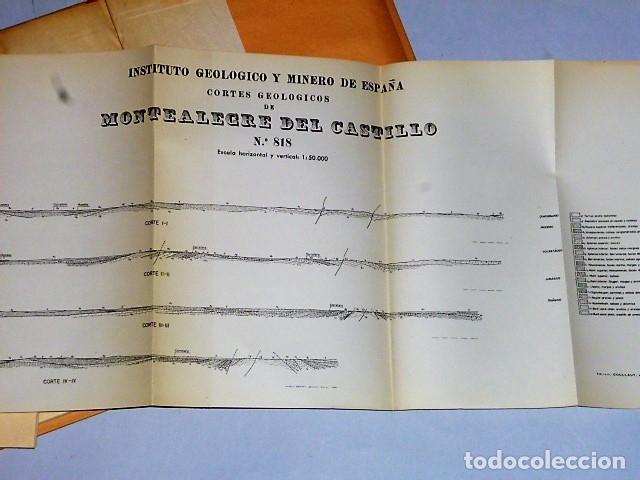 Libros de segunda mano: MAPA GEOLÓGICO DE ESPAÑA. EXPLICACIÓN DE LA HOJA NÚM. 818. MONTEALEGRE (ALBACETE-MURCIA) - Foto 6 - 116223611