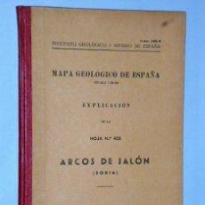 Libros de segunda mano: MAPA GEOLÓGICO DE ESPAÑA. EXPLICACIÓN DE LA HOJA NÚM. 435. ARCOS DE JALÓN (SORIA). Lote 116223911
