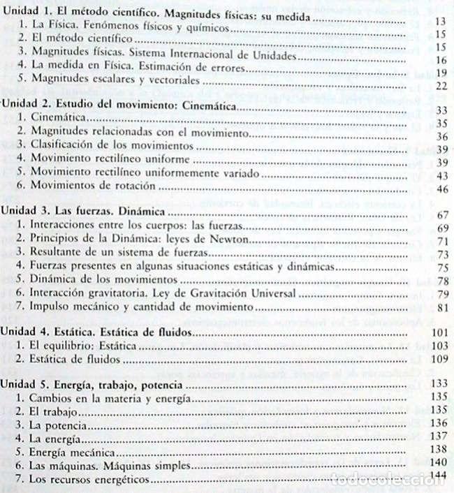 Libros de segunda mano de Ciencias: FÍSICA Y QUÍMICA - PRUEBA LIBRE GRADUADO / GRADO MEDIO PRUEBAS DE ACCESO CICLOS FP - ED. MAD 2000 - Foto 2 - 116329823