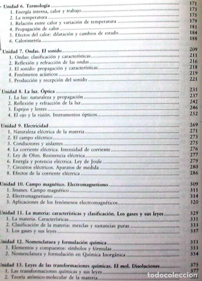 Libros de segunda mano de Ciencias: FÍSICA Y QUÍMICA - PRUEBA LIBRE GRADUADO / GRADO MEDIO PRUEBAS DE ACCESO CICLOS FP - ED. MAD 2000 - Foto 3 - 116329823