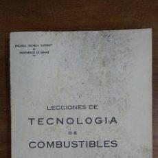Libros de segunda mano de Ciencias: LECCIONES DE TECNOLOGÍA DE COMBUSTIBLES. AÑO 1968. ANTONIO CANSECO MEDEL. Lote 116378198