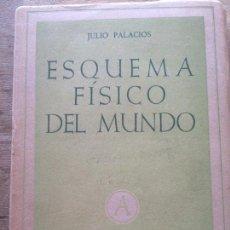 Libros de segunda mano de Ciencias: ESQUEMA FÍSICO DEL MUNDO. JULIO PALACIOS.. Lote 117216859