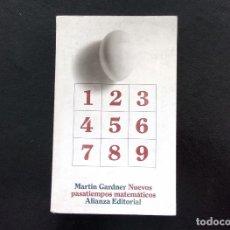 Libros de segunda mano de Ciencias: NUEVOS PASATIEMPOS MATEMÁTICOS. MARTIN GARDNER. ALIANZA EDITORIAL. MADRID, 1967.. Lote 117223855