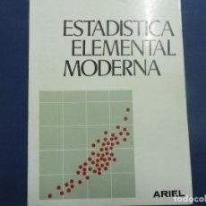 Libros de segunda mano de Ciencias: ESTADÍSTICA ELEMENTAL MODERNA - ALFONSO G BARBANCHO. Lote 117429107