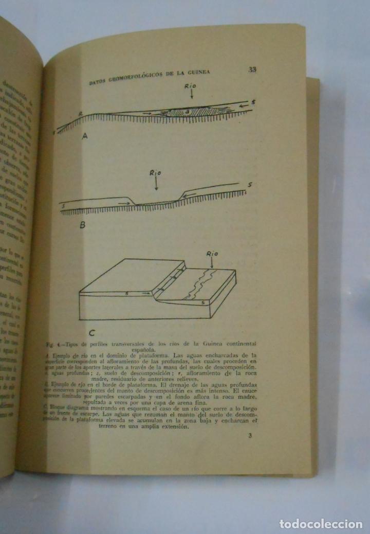 Libros de segunda mano: Datos Geomorfológicos de la Guinea Continental Española. - Alia Medina, Manuel. 1951. TDK341 - Foto 2 - 117503751