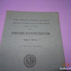 Libros de segunda mano: ANTIGUO LIBRO APUNTES SOBRE LAS ESTACIONES PREHISTÓRICAS DE LA SIERRA DE ORIHUELA DEL AÑO 1942. Lote 117682055