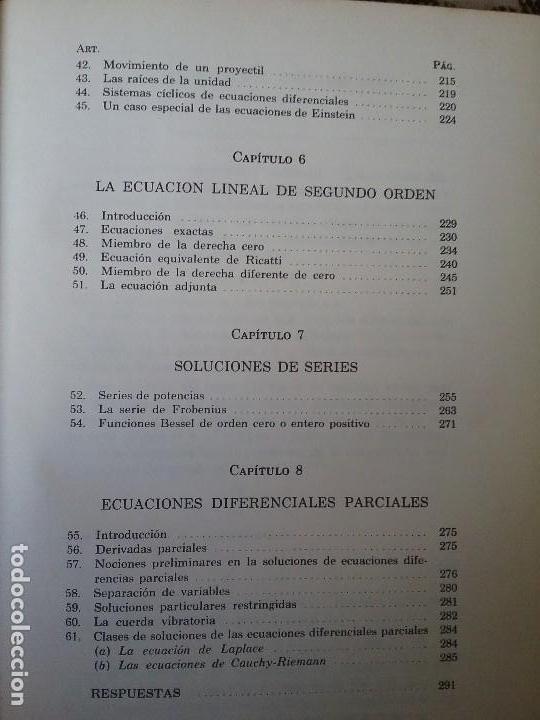 Libros de segunda mano de Ciencias: Ecuaciones diferenciales, de Reddick y Kibbey. Problemas resueltos. Matematicas. - Foto 3 - 118082151