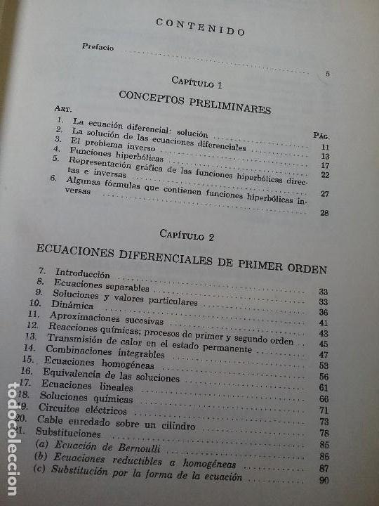 Libros de segunda mano de Ciencias: Ecuaciones diferenciales, de Reddick y Kibbey. Problemas resueltos. Matematicas. - Foto 5 - 118082151