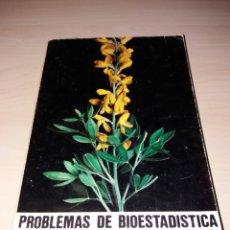Libros de segunda mano de Ciencias: PROBLEMAS DE BIOESTADÍSTICA - S. GUTIÉRREZ CABRIA. Lote 118218646