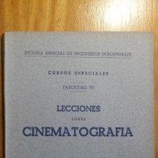 Libros de segunda mano de Ciencias: LECCIONES SOBRE CINEMATOGRAFÍA, 1942. Lote 118392071