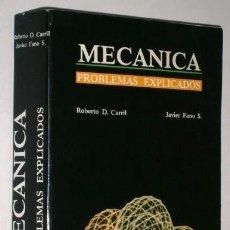 Libros de segunda mano de Ciencias: MECÁNICA: PROBLEMAS EXPLICADOS POR DÍAZ CARRIL Y FANO SUÁREZ DE ED. JÚCAR EN BARCELONA 1987. Lote 125026686