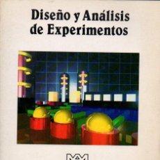 Libros de segunda mano de Ciencias: MONTGOMERY : DISEÑO Y ANÁLISIS DE EXPERIMENTOS (MÉXICO, 1991). Lote 118635851