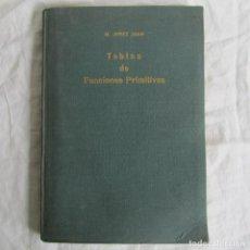 Libros de segunda mano de Ciencias: TABLAS DE FUNCIONES PRIMITIVAS. M. JEREZ JUAN 1956. Lote 118715059