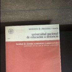 Libros de segunda mano de Ciencias: ANALISIS CONTABLE SUPERIOR - UNIDAD DIDACTICA I -.VV.AA. UNIVERSIDAD NACIONAL DE EDUCACION A DISTANC. Lote 118783655
